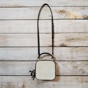 Vintage Kate Spade White Black Square Crossbody